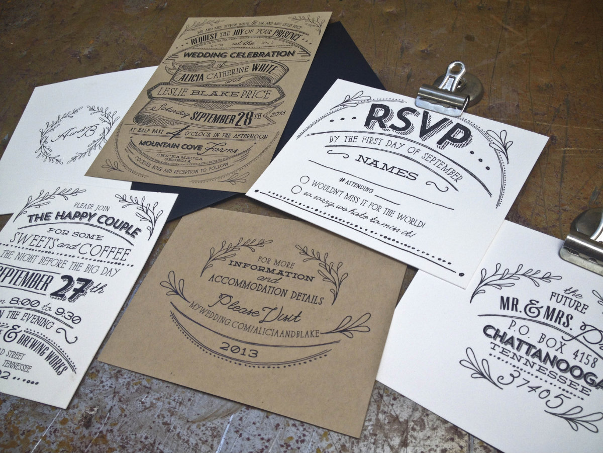 Kate Moore Creative - knoxville wedding invitations