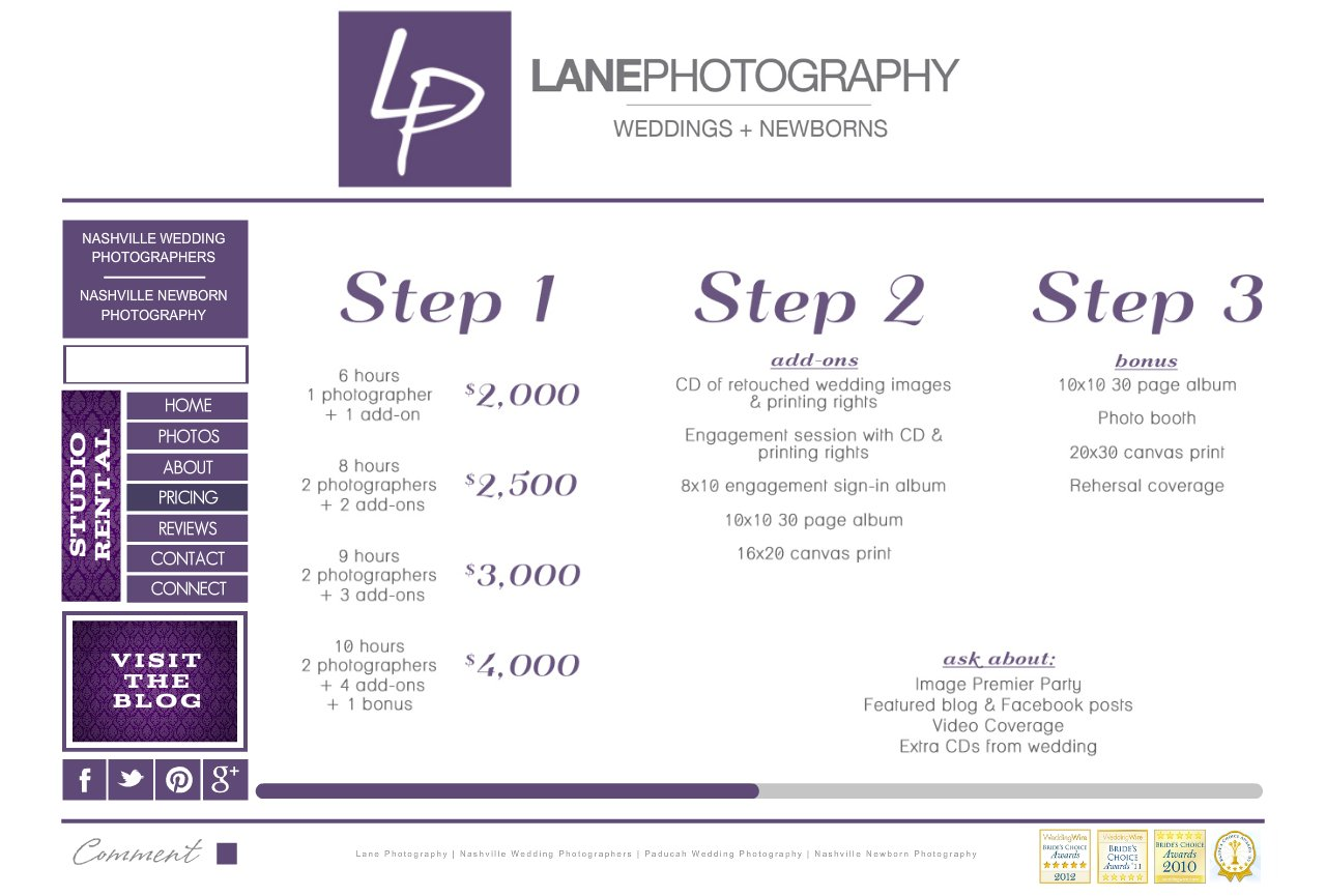 Wedding Photography Pricing Packages: Pin Prices And Packages Are Subject To Changes Without On