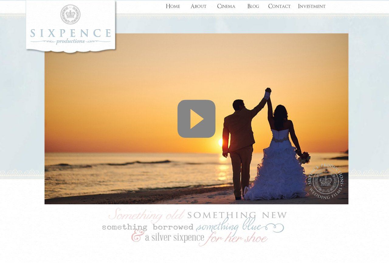 30A - Wedding Video - Sixpence Productions - Home