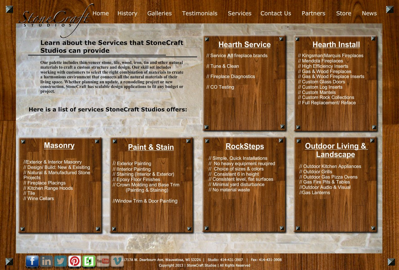 stonecraft studios architectural coverings fireplace installer