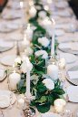 Garland Tablescape with taper candles
