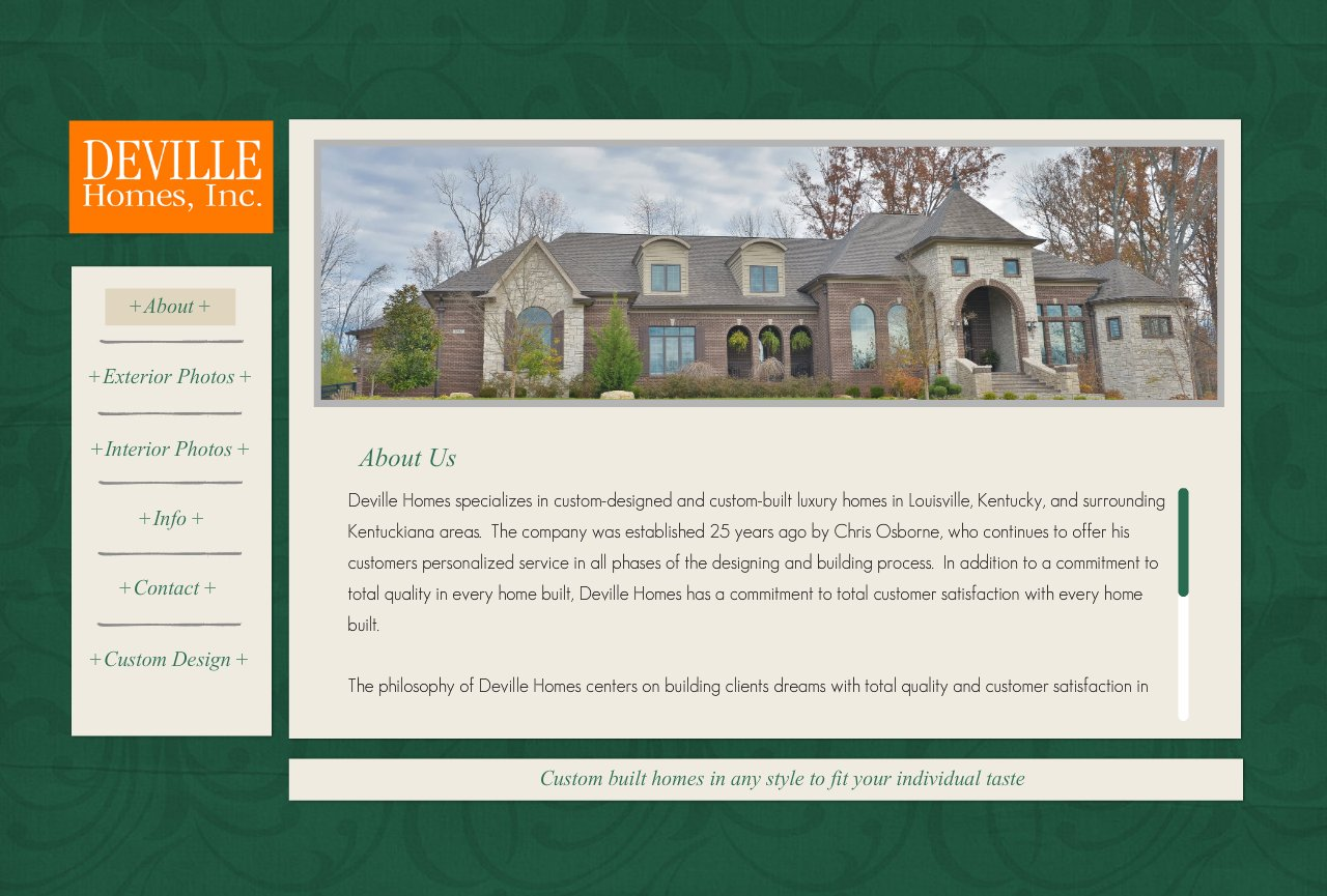 Deville Homes Inc - Louisville Custom Home Builder - About Deville Homes