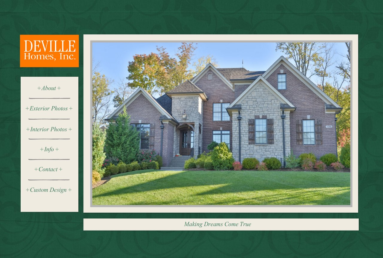 Deville homes inc louisville custom home builder for Home builder website