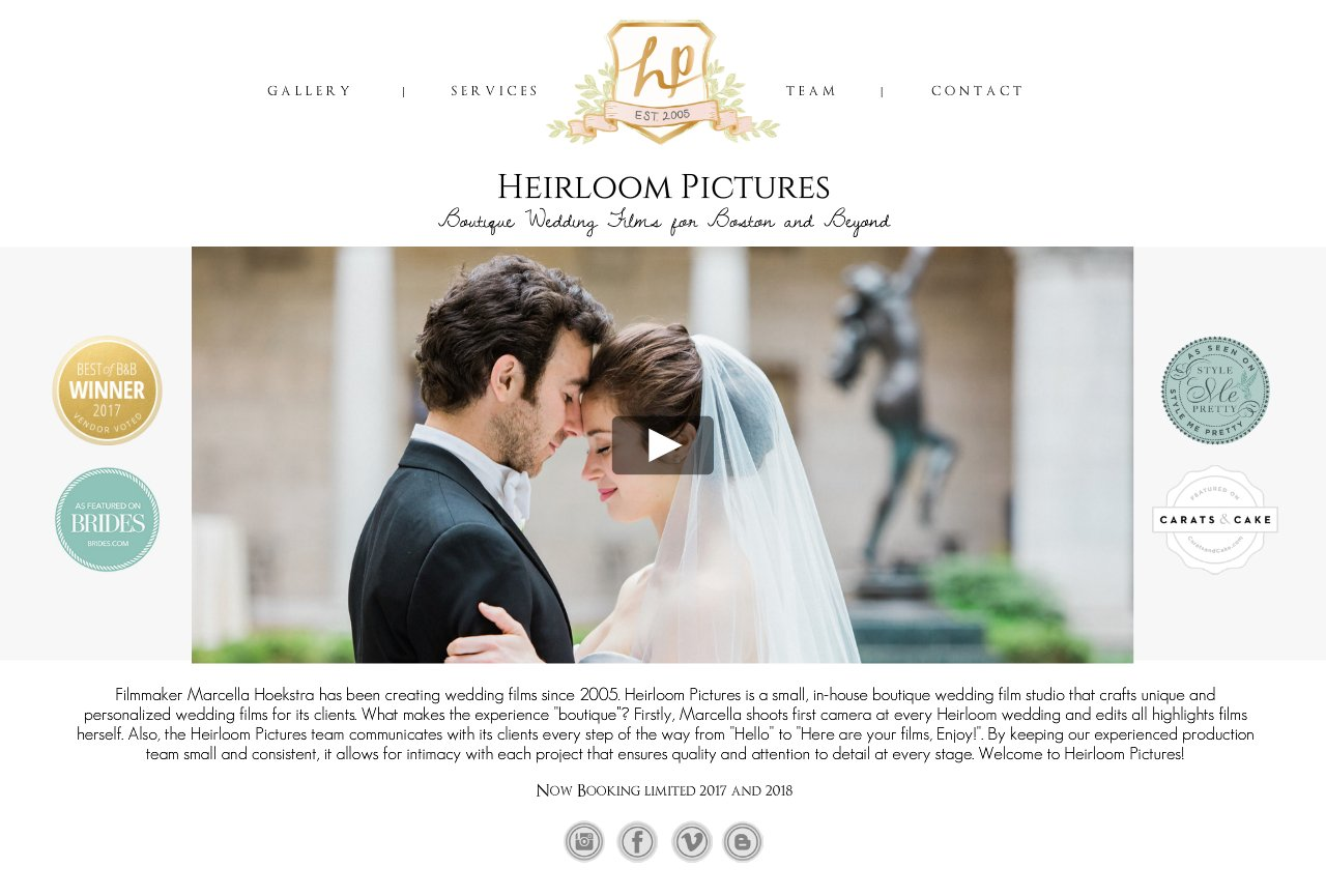 Heirloom pictures boutique wedding films for the boston for Wedding videographers in ma