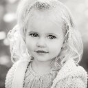 Little Girl in Black and White