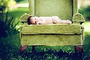 Outside Chair Newborn Photo