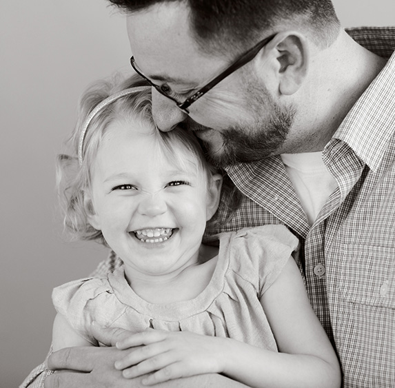 Natural light studio father daughter photo by rachel kemble denver co