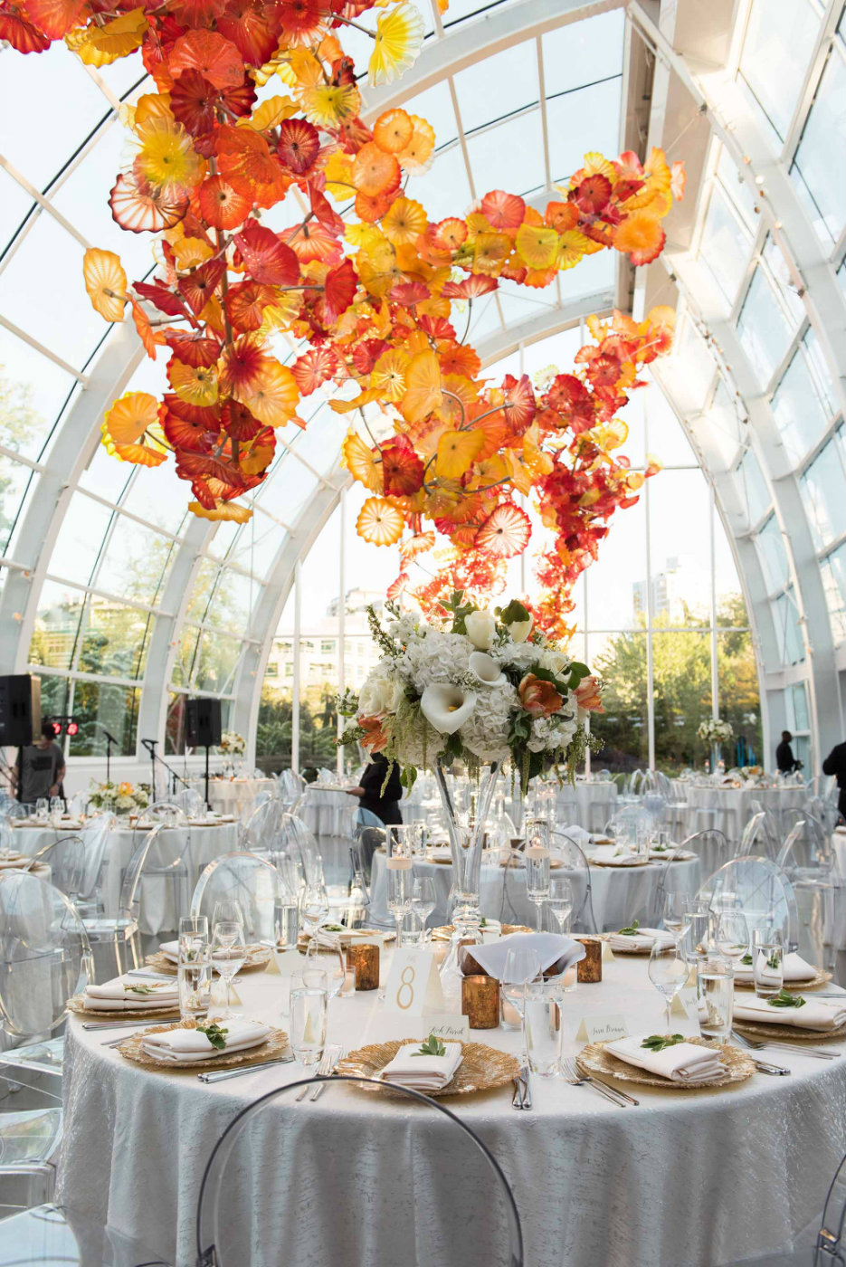 floral design for chihuly glass and garden seattle wedding design by flora nova floral and event design - Glass Garden Seattle