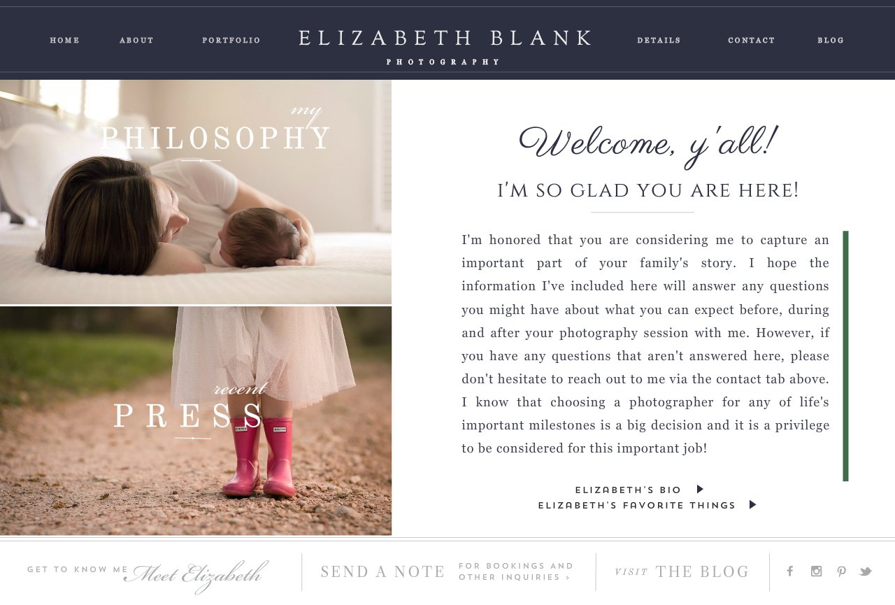 elizabeth blank photography welcome about