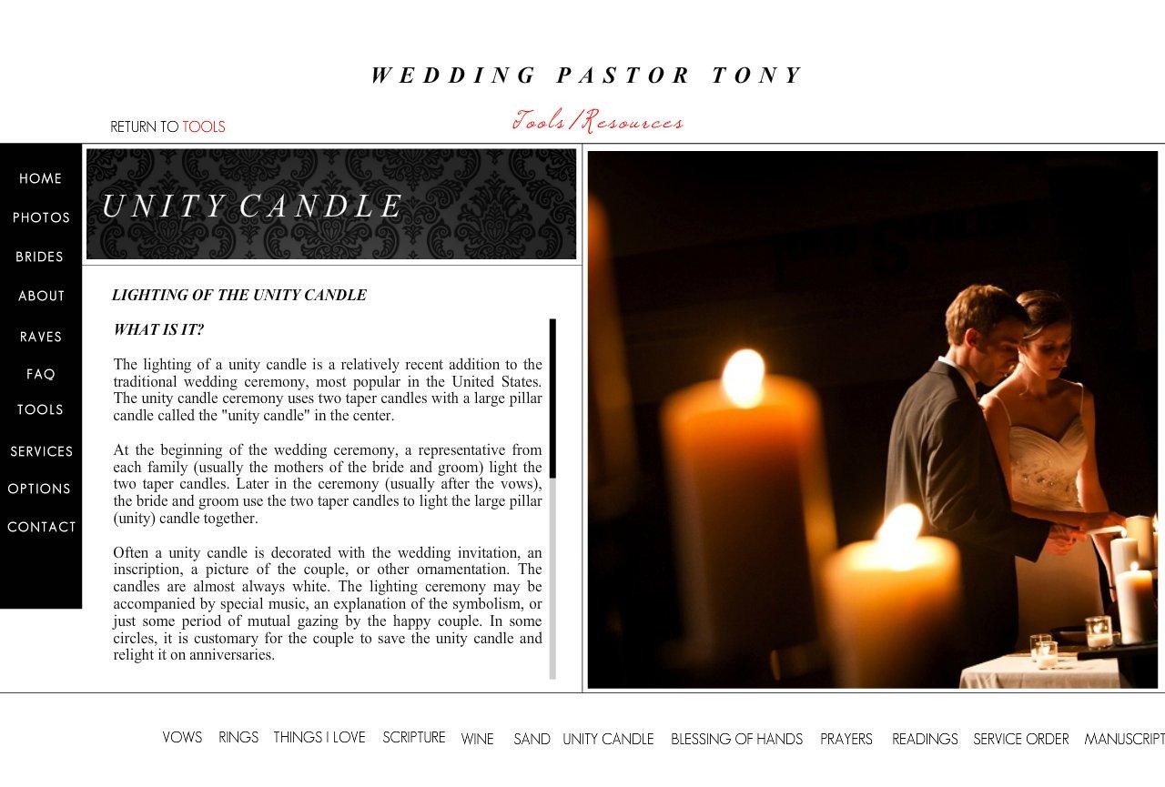 Wedding Pastor Tony Unity Candle